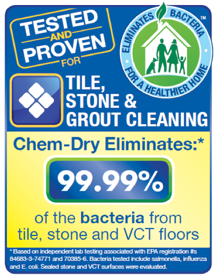 Chem-Dry Tile Cleaning Removes 98.6% Bacteria